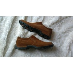 Cole Haan brown suede pull on loafer shoes 7